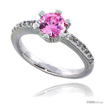 Size 7 - Sterling Silver Vintage Style Engagement ring, w/ a 6mm (.75 ct... - $44.07