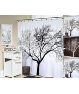"Splash Home Tree Silhouette Polyester Fabric Shower Curtain 70"" x 72"" - $35.09"