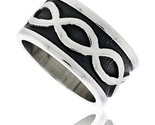 Sterling silver southwest design infinity symbols ring handmade 1 2 in wide thumb155 crop