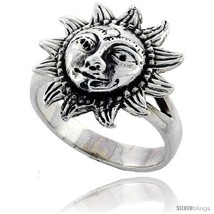 Size 8 - Sterling Silver Large Sun  - $28.25