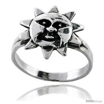 Size 7 - Sterling Silver Sun Ring 7/16 in  - €12,60 EUR