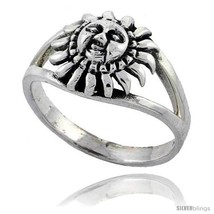 Size 8.5 - Sterling Silver Sun Ring 3/8  - $15.55