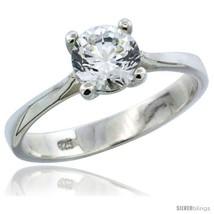 Size 10 - Sterling Silver 1 Carat Size Brilliant Cut CZ Solitaire Bridal  - $29.16