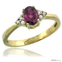 An item in the Jewelry & Watches category: Size 8.5 - 14kWhite Gold Ladies Natural Rhodolite Ring oval 6x4