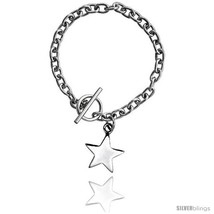 Length 8 - Sterling Silver Oval Rolo Link w/ StarTag Bracelets and  - €98,42 EUR
