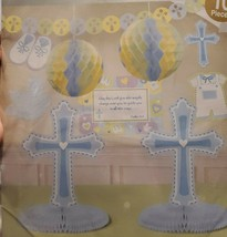 10-Pc Room Decorating Kit For Christening, Baptism Or Religious Church PARTY-New - $9.74