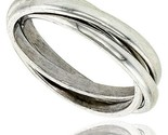 Sterling silver rolling ring w 3 mm domed bands handmade thumb155 crop