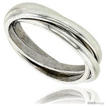 Size 14 - Sterling Silver Rolling Ring w/ 3 mm Domed Bands  - $41.44