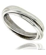 Size 13 - Sterling Silver Rolling Ring w/ 3 mm Domed Bands  - $41.44