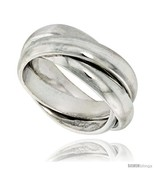 Size 6 - Sterling Silver Rolling Ring w/ 5 mm Domed Bands  - $77.08