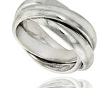 Sterling silver rolling ring w 5 mm domed bands handmade thumb155 crop