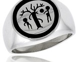 Sterling silver forbidden fruit ring w adam eve the serpent thumb155 crop