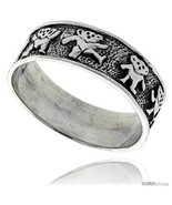 Size 8.5 - Sterling Silver Dancing Bears Ring 5/16 in  - $47.12