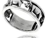 Sterling silver polished hippopotamus ring thumb155 crop
