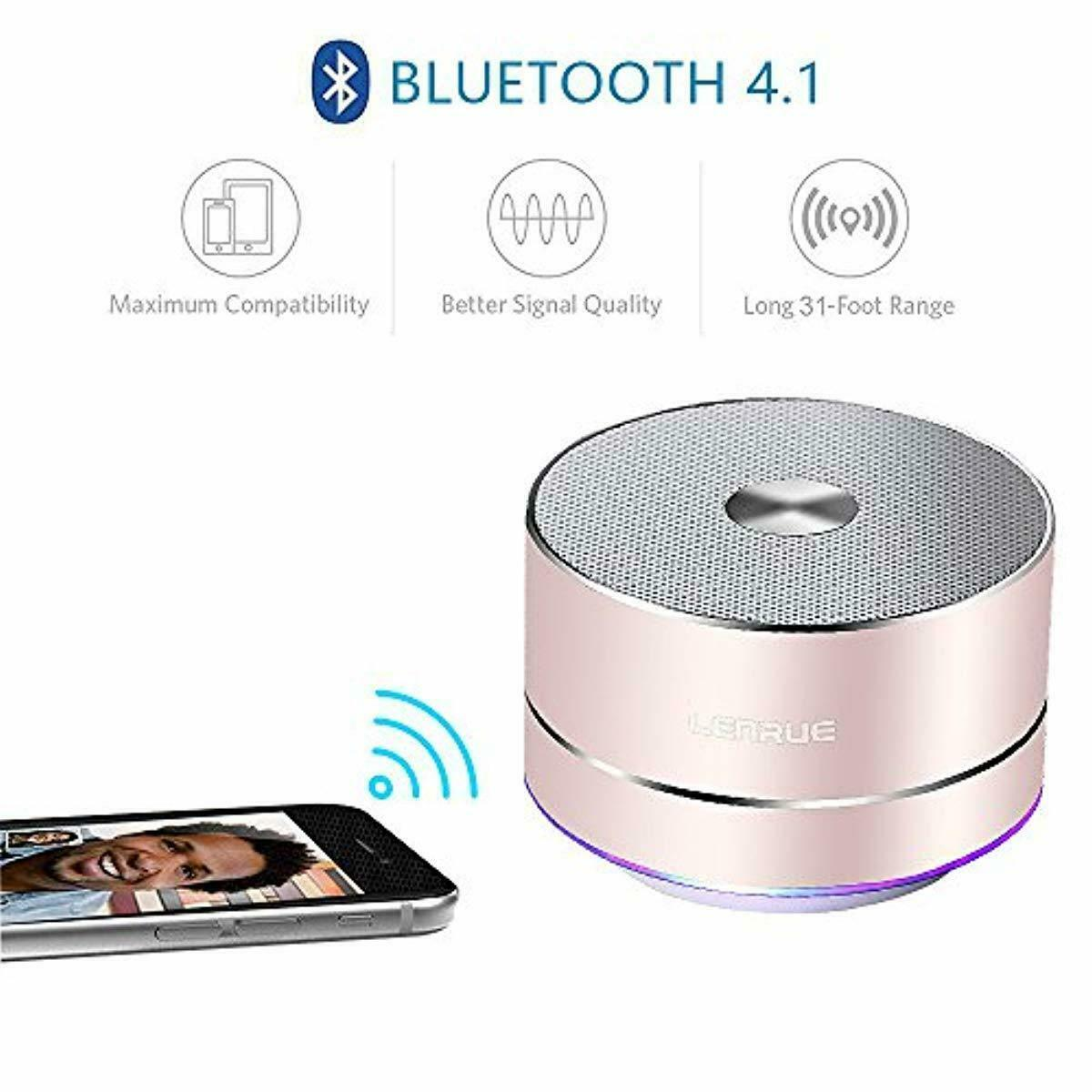 A2 LENRUE Portable Wireless Bluetooth Speaker for iPhone Ipad Android Smartphone