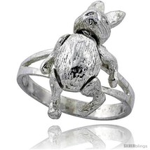 Size 6.5 - Sterling Silver Movable Rabbit  - $22.83