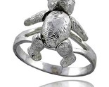 Sterling silver movable teddy bear ring thumb155 crop