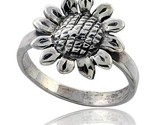 Sterling silver movable sunflower ring 11 16 in wide thumb155 crop