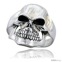 Size 10 - Sterling Silver Gothic Biker Skull Ri... - $56.43