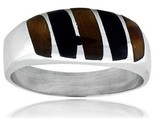 Gents sterling silver black obsidian tiger eye ring style xrs468 thumb155 crop