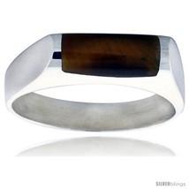 Size 8 - Sterling Silver Thin Tiger Eye  - $35.48