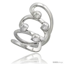 Size 7.5 - Sterling Silver Hand Made Freeform Wire Wrap Ring, 1 3/8 in (... - $41.01