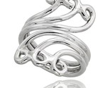 Sterling silver hand made wire wrap ring 1 1 4 in 30 mm wide style xrw3 thumb155 crop