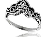 Sterling silver celtic crown ring 3 8 in wide thumb155 crop