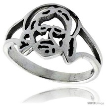 Size 5 - Sterling Silver Jesus Ring 1/2 in  - $14.76
