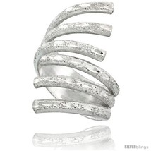 Size 9 - Sterling Silver Wire Wrap Ring Diamond-cut finish Handmade, 15/... - $39.62