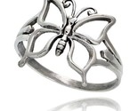 Sterling silver butterfly ring 5 8 in wide thumb155 crop