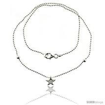 Length 17 - Sterling Silver Necklace / Bracelet with a Star Slide -Style  - $35.89