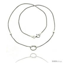 Length 17 - Sterling Silver Necklace / Bracelet with a  - $51.75