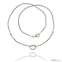Length 7 - Sterling Silver Necklace / Bracelet with a  - $45.54