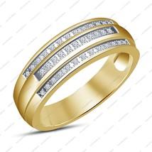 Engagement Wedding Round Cut White Sim Diamond 14k Gold Finishing Band Ring - $87.99