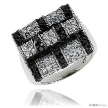 Size 9 - Sterling Silver Square Ring, Rhodium P... - $60.40