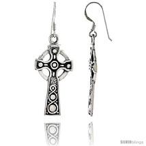 Sterling Silver Celtic Healing Cross Dangle Earrings, 1 15/16 in  - $56.60