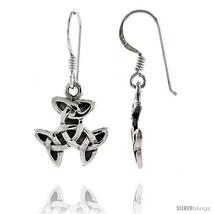 Sterling Silver Interlacing Trinity Celtic Dangle Earrings, 1 3/16 in  - $24.80