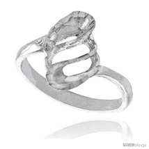 Size 8 - Sterling Silver Freeform Spiral Ring Polished finish 5/8 in  - $21.26