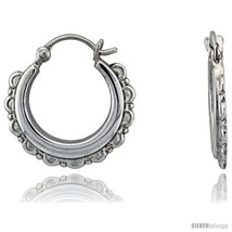 Sterling Silver High Polished Hoop Earrings, 13/16in   - $44.47