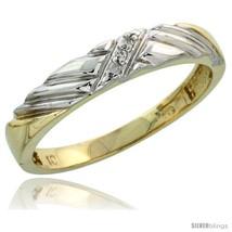 Size 7.5 - 10k Yellow Gold Ladies Diamond Wedding Band Ring 0.02 cttw Br... - $206.80