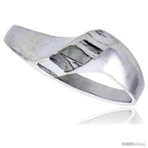 Size 6 - Sterling Silver Freeform Ring Polished finish 5/16 in  - $17.69