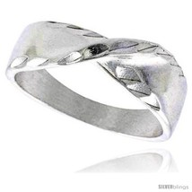 Size 7 - Sterling Silver Freeform Ring Polished finish 1/4 in wide -Style  - $31.95
