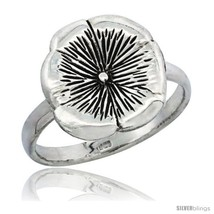 Size 7.5 - Sterling Silver Movable Flower Ring 1/2 in  - $30.00