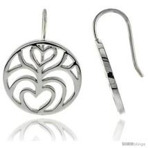 Sterling Silver Round Hook Earrings, 11/16in  (18  - $51.55