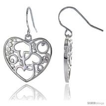 Sterling Silver Heart Hook Earrings, 3/4in  (20  - $62.37