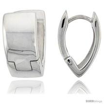Sterling Silver Huggie Earrings V-Shape Flawless Finish, 5/8  - $72.79