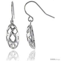 Sterling Silver Oval Hook Earrings, 3/4in  (19  - $26.91