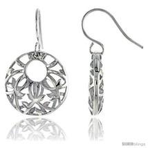 Sterling Silver Round Hook Earrings, 3/4in  (19  - $57.00
