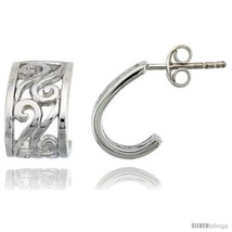 Sterling Silver Spiral Post Earrings, 1/2in  (13  - $39.73